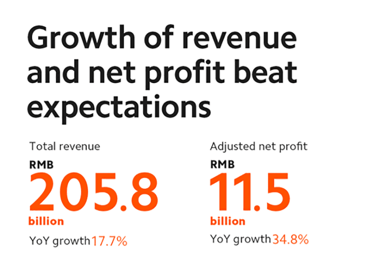 Xiaomi YoY growth