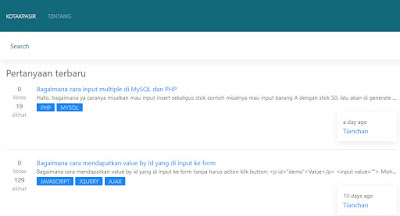 Website Stackoverflow nya Indonesia