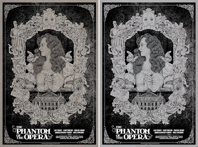 The Phantom of the Opera Movie Poster Screen Print by Timothy Pittides x Mad Duck Posters – Regular & Metallic Variant
