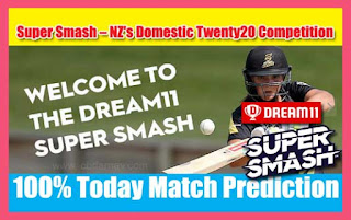 Today Match Prediction OTG vs CTB Super Smash T20 15th Match 100% Sure