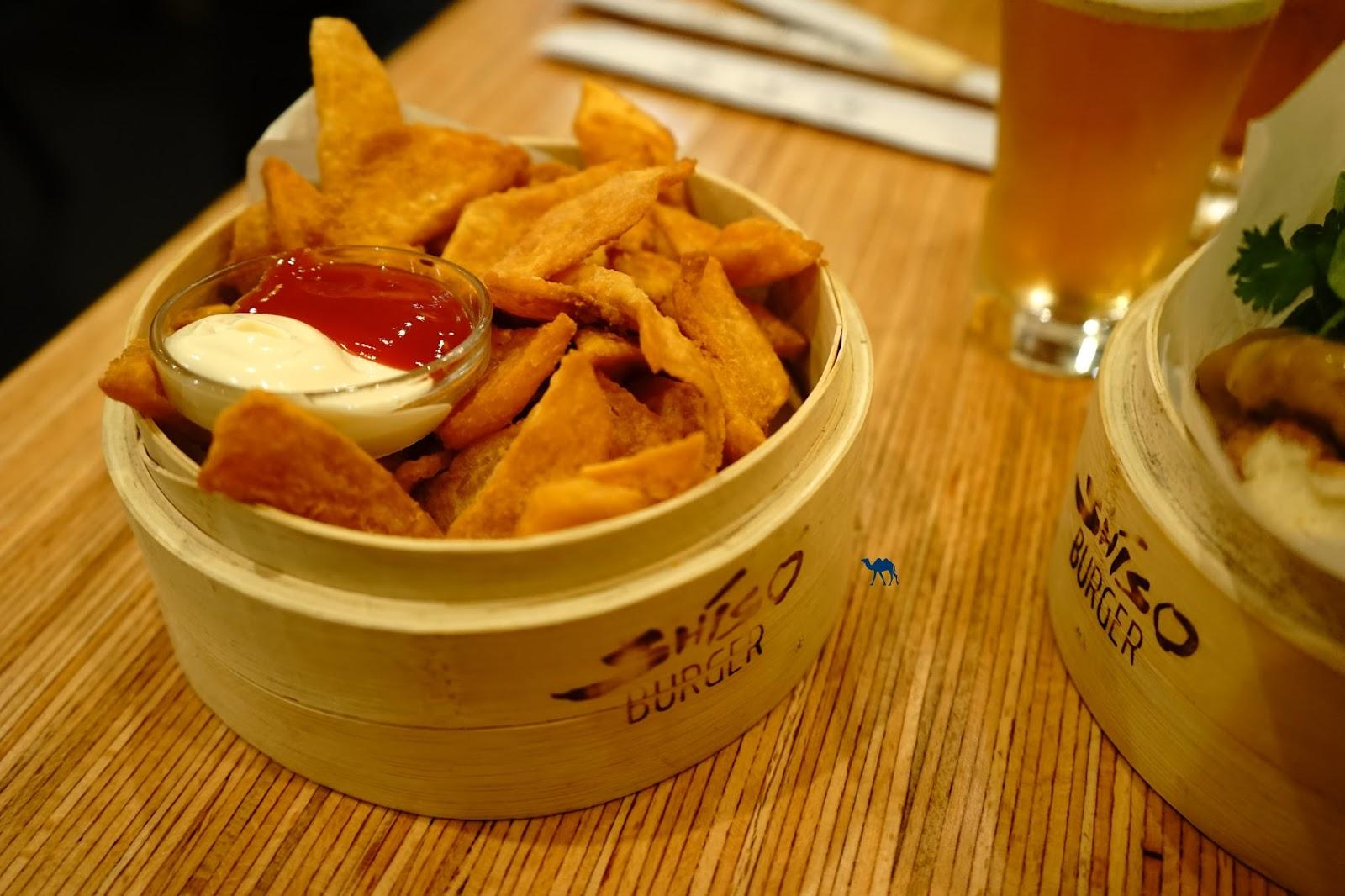 Le Chameau Bleu - Frite de patate douce  du Shiso Burger - Restaurant Paris - nippon