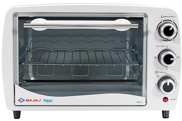 Bajaj Majesty 1603T OTG, 16 Litres, 1200 Watts - A Cheap, Reliable and Best for the family of up to 3 people.