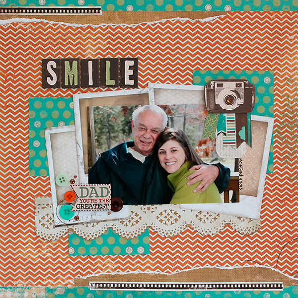 Bo Bunny Mama-Razzi2 Father's Day Layout Juliana Michaels