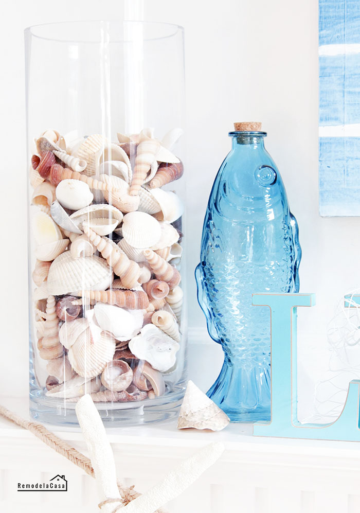 summer mantel - seashells