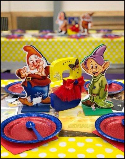 7 Dwarfs centerpieces cake table party decoration snow white table decorations