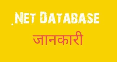 .NET DATABASE