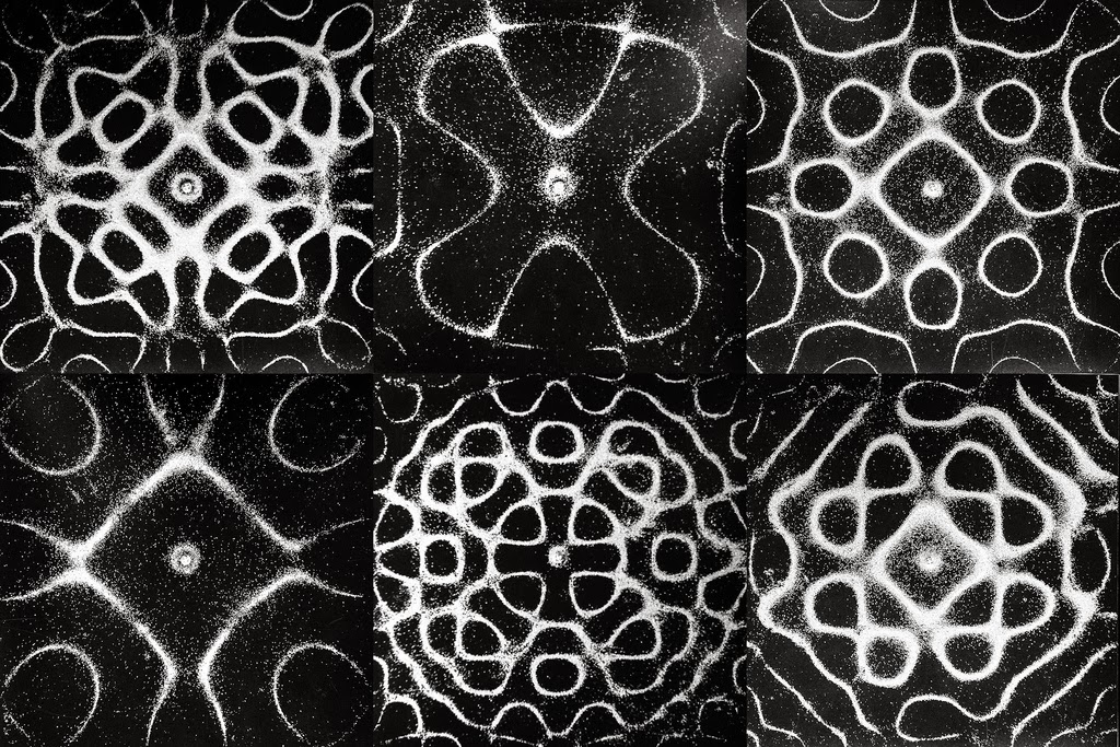 Chladni Plates Sand Vibration Patterns