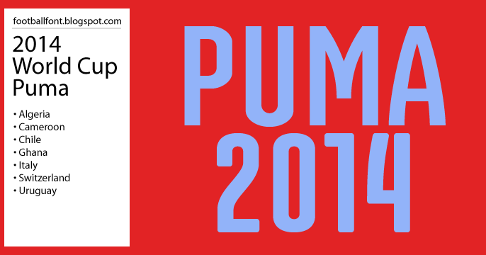 football fonts fifa world cup 2014 puma jersey font fifa world cup 2014 puma jersey font