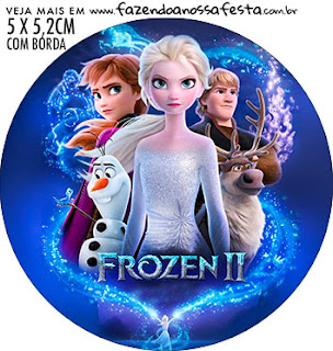 Frozen 2: Free Printable Cupcake Wrappers and Toppers.