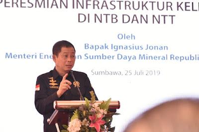 Menteri ESDM Resmikan Proyek Infrastruktur kelistirikan di Badas