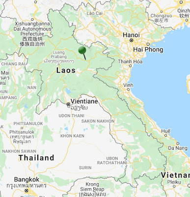 pin point map nam et phou louey national protected area laos