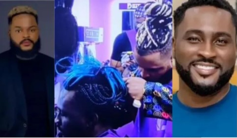 Whitemoney Getting Pere's Hair Done, Despite Their Heated Dispute (VIDEO)