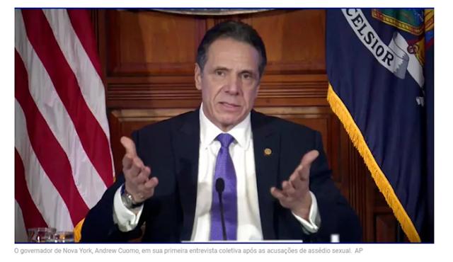 Governador de Nova York diz que não vai renunciar, apesar das acusações de assédio sexual