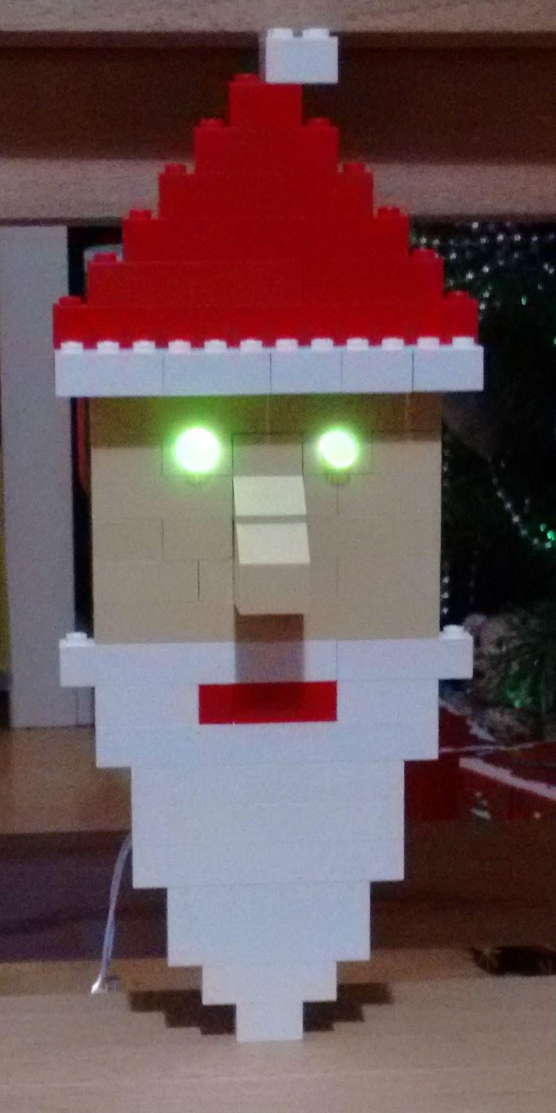 A Light Up Lego Santa