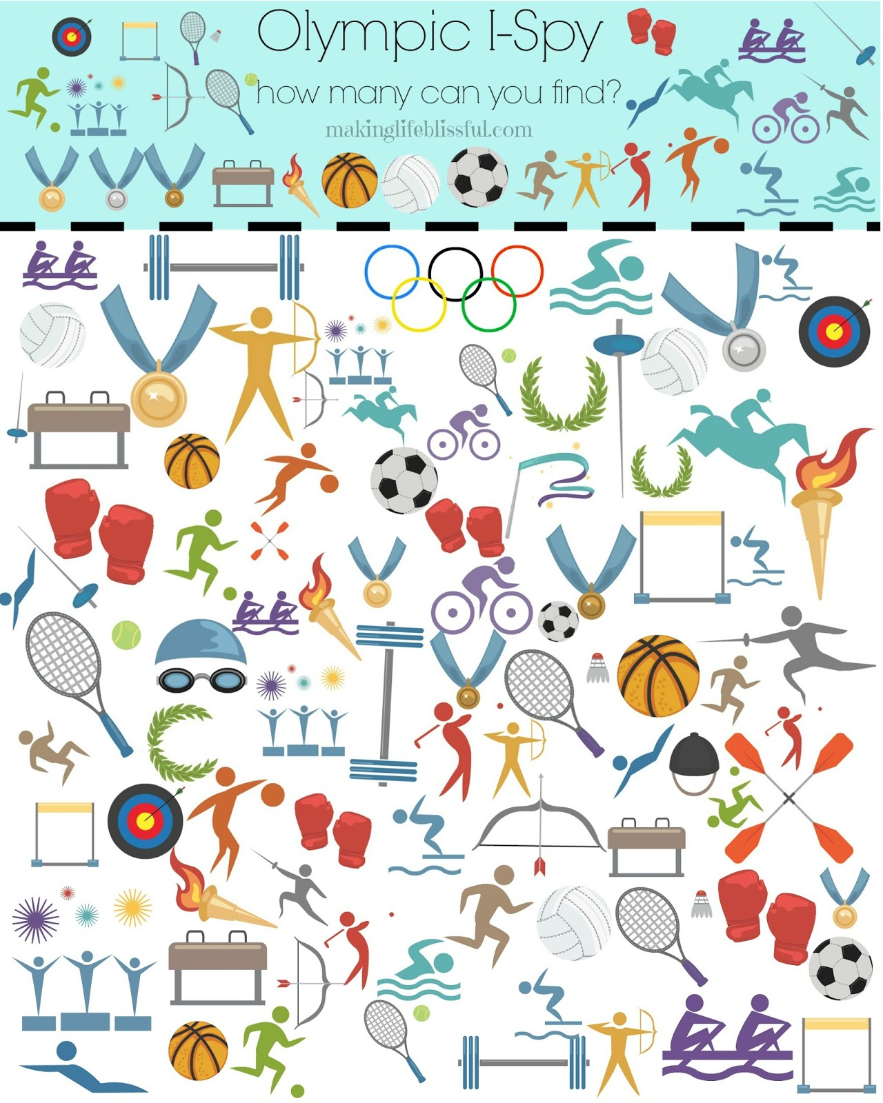 picture relating to Printable Olympic Schedule referred to as 8 Very simple Olympic Celebration Guidelines for Little ones! Generating Lifestyle Blissful