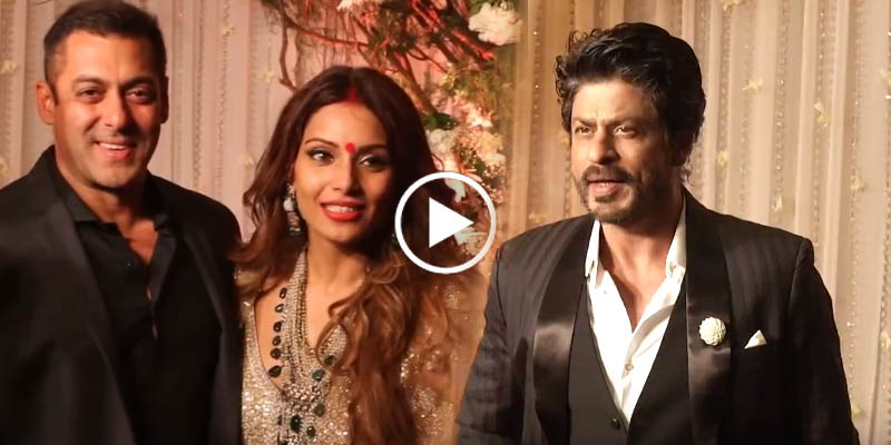 Salman Khan And Shahrukh Together At Bipasha Basu Wedding Reception