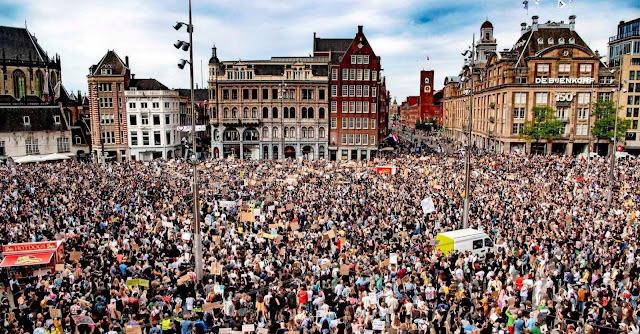 Amsterdam #GeorgeFloyd Protest May 31 2020
