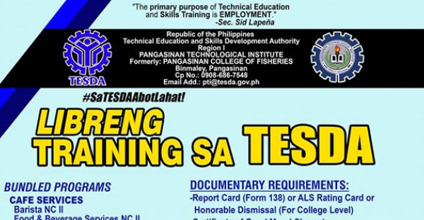 11 Free Courses | Tesda Scholars - Requirements & Qualifications