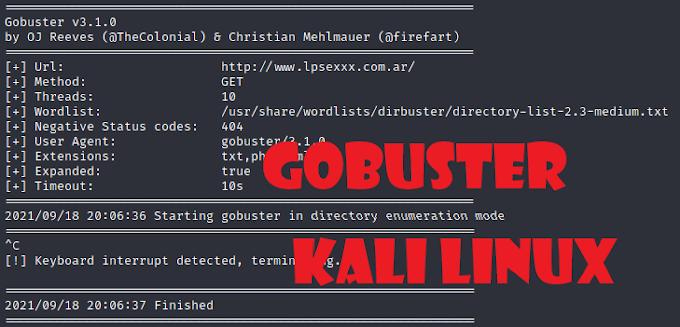 Enumeración de directorio en KALI LINUX