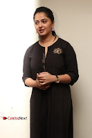 Actress Anushka Shetty Stills in Black Gurthi at Baahubali 2 Press Meet  0013.jpg