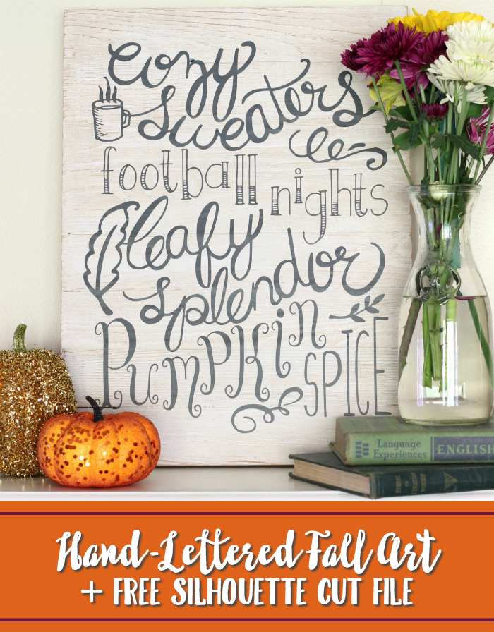Hand Lettered Fall Art Free Cut File
