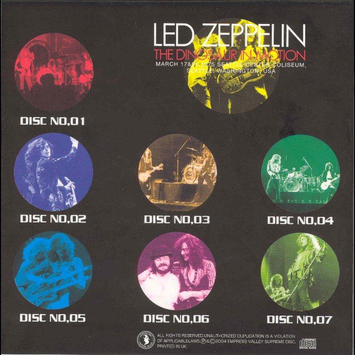 Long Live Led Zeppelin: 1975 03 17-21 Led Zeppelin Seattle Dinosaur