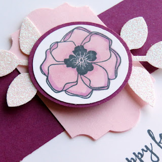 Stampin' Up! Color Me Happy Flower Card ~ Stampin' Blends ~ www.juliedavison.com