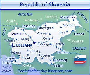 Slovenia political map