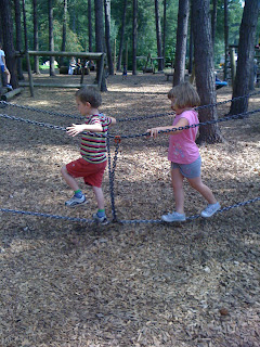 west walk adventure playground rope bridge style chain