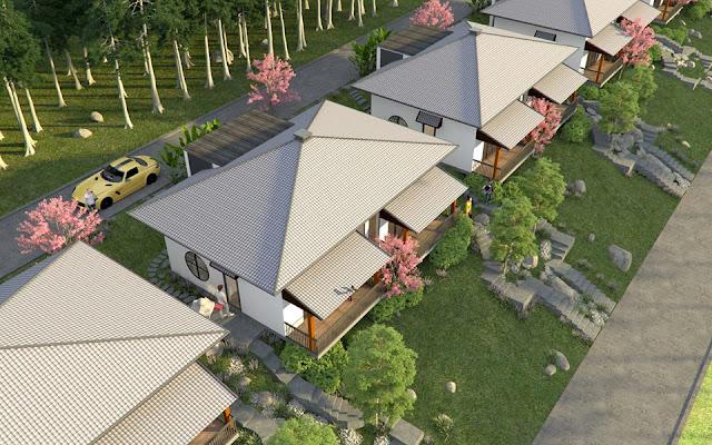 Phối cảnh biệt thự nghỷ dưỡng Ohara Villa Resort