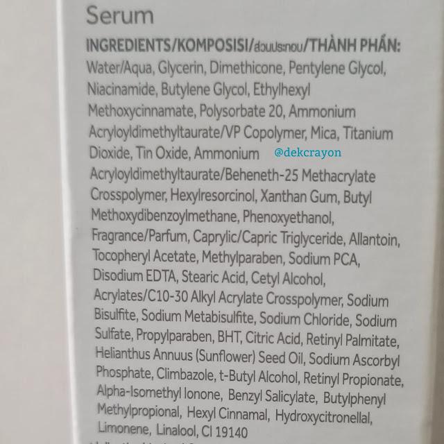 kandungan bahan ponds serum