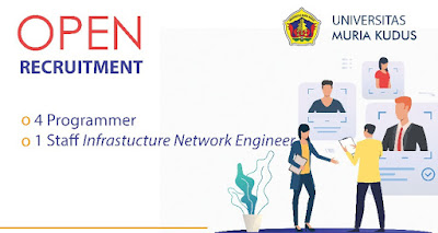 Open Recruitment Programmer & Staff Infrastructure Network Engineer Universitas Muria Kudus
