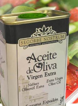 Lata Aceite Segorbe Nostrum Intenso Sin Filtrar. 220 ml.