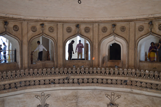 Inside Char Minar, Hyderabad