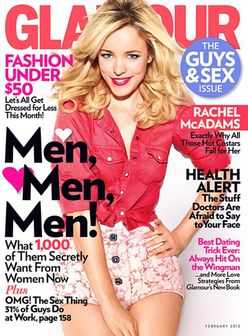 RACHEL McADAMS for GLAMOUR Feb 2012