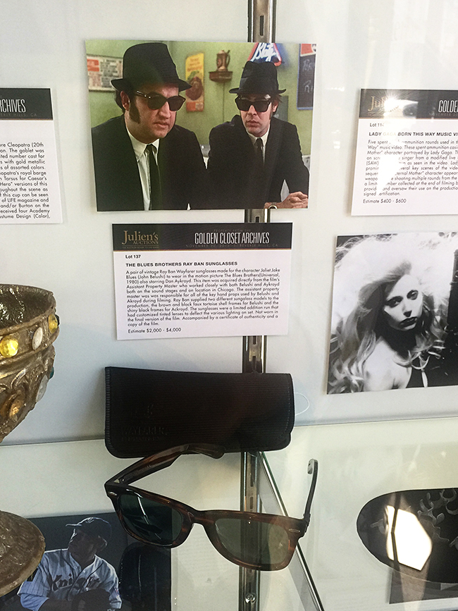 Hollywood Auction Blues Brothers Ray Ban Sunglasses