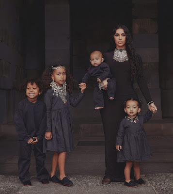 Photos of Kim Kardashian and her 4 kids