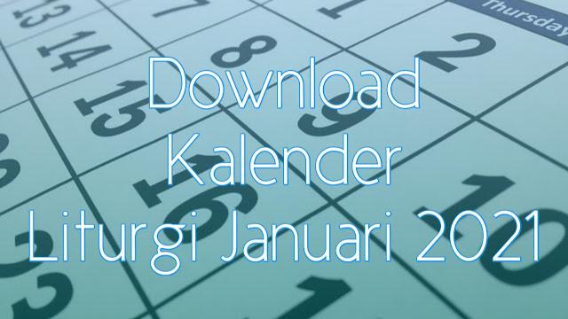 Download Kalender Liturgi Januari 2021 Tahun B/1 PDF Excel dan JPEG