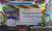 Direktur Utama PT Elnusa Petrofin Resmikan SPBE di Bima Provinsi NTB