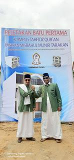 Peletakan Batu Pertama Kampus Tahfidz Qur'an Yayasan Misbahul Munir di Kampung I Skip Tarakan