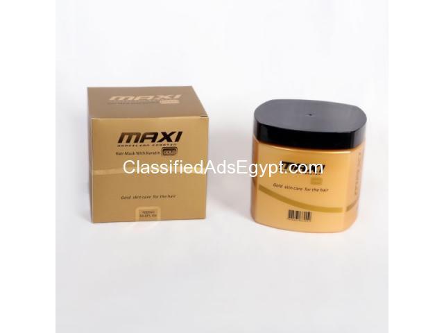 ماسك ماكسي جولد كيراتين للشعر Maxi gold keratin mask