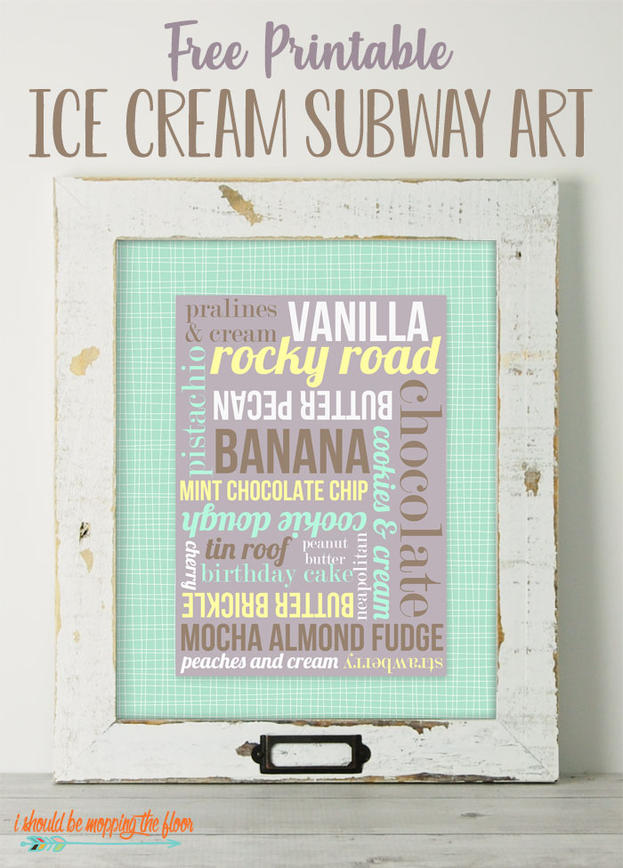 Free Ice Cream Printables