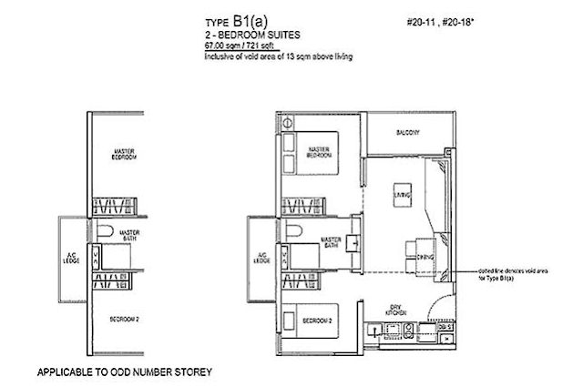 Rivertrees Residences Type B1(1) Floor Plan