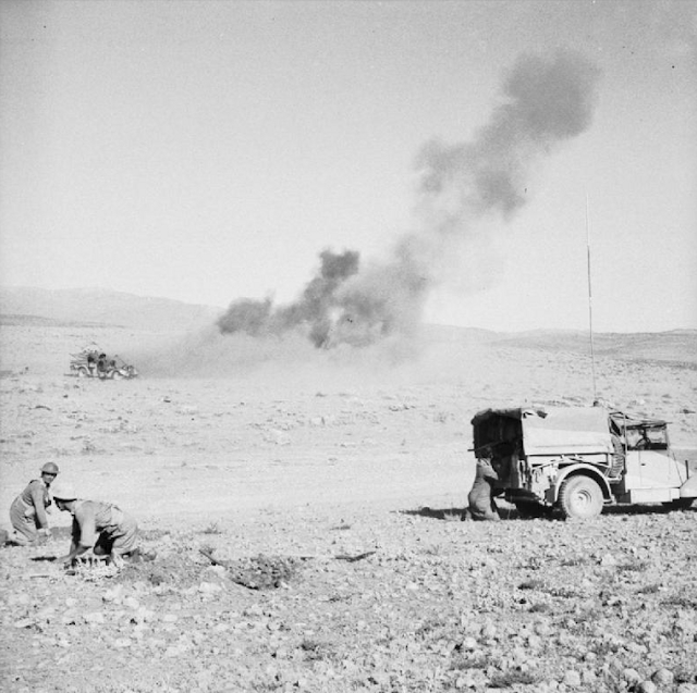 British troops under fire near Damascus 3 July 1941 worldwartwo.filminspector.com