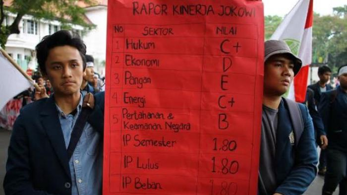 Nilai Rapor Kinerja Pemerintahan Jokowi Cuma 7,7