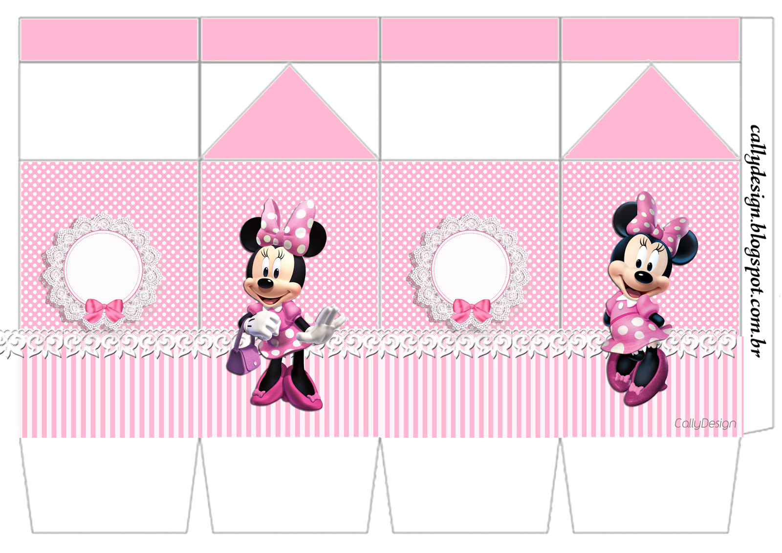 caixa minnie rosa