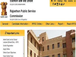 RPSC Sarkari Naukri 2020 Recruitment For School Lecturer Posts   Sarkari Jobs Adda