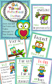 https://www.teacherspayteachers.com/Product/Owl-Themed-Motivational-Poster-Set-301709