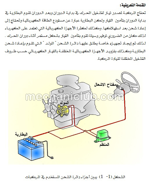 تحميل كتاب صيانة دائرة الشحن في السيارات Pdf Mechaniclub ميكانيك