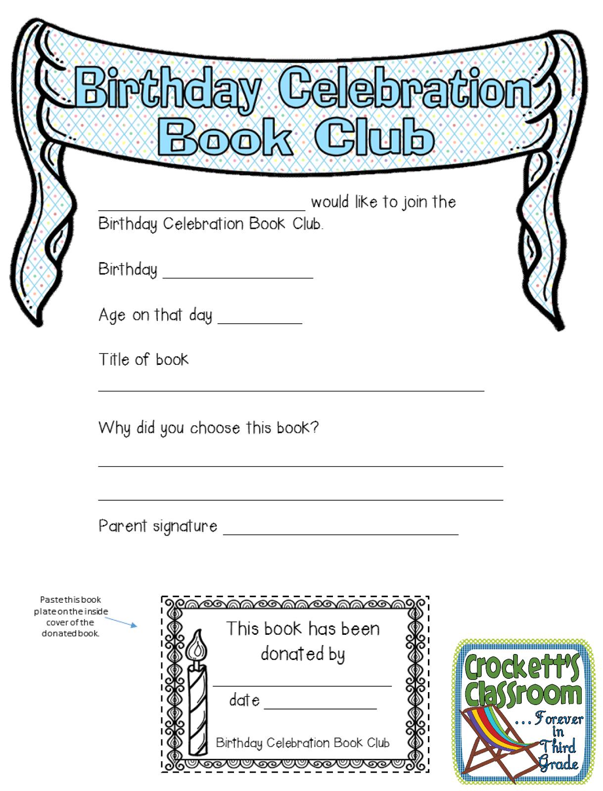 Birthday Celebration Book Club
